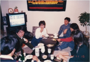 The last supper that Sachiko shared with her husband's best friends from junior high school.